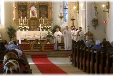 Hledání odposlechů v uherčickém kostele 9.4.2012