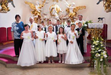1. svaté přijímání Velké Němčice 2017